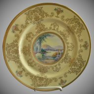 Pickard Studio Hand Painted 'Scenic' Charger w/Gold Decoration - Signed Challinor, Plate 10 of 12