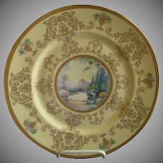 Pickard Studio Hand Painted 'Scenic' Charger w/Gold Decoration - Signed Challinor, Plate 11 of 12