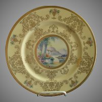 Pickard Studio Hand Painted 'Scenic' Charger w/Gold Decoration - Signed Challinor, Plate 12 of 12
