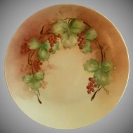IT UNO Favorite Bavaria Hand Painted Cabinet Plate w/Red Currants Motif