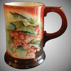 Home Studio Hand Painted Stein w/Ripe Currant Motifs - Signed & Dated