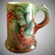 Home Studio Hand Painted Stein w/Lush Ripe Red Currant Motifs - Signed & Dated