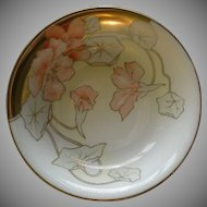 P T Bavaria Serving Bowl w/Transfer Nasturtium Blossoms Motif