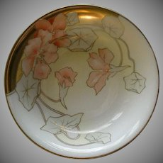 P T Bavaria Serving Bowl w/Transfer Nasturtium Blossoms Motif