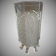 EAPG - Gillinder & Sons 'Classic' Pattern Footed Celery Vase