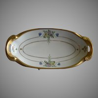 """Pickard Studio Hand Painted """"Russian Flowers"""" Series, Relish/Pickle Dish"""