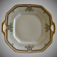 "Pickard Studio Hand Painted Serving Plate ""Russian Flowers"" Series Floral Motif"