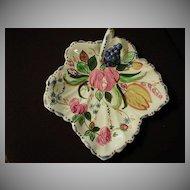 "Blue Ridge ""Nove Rose"" Maple Leaf Cake Tray"