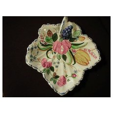 "Blue Ridge ""Nove Rose"" Maple Leaf Cake Tray"