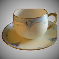 Set of 6 MZ Austria Hand Painted Cups & Saucers w/Nosegay Bouquets Motif