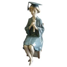 "Lladro ""Girl Graduate"" Porcelain Sculpture #01599"