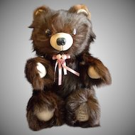 "Vintage Fur Teddy Bear by Barry & Sue Dovaston ""Basu Enterprises"" - Brown Mink"