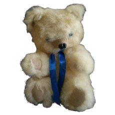 """Vintage Fur Teddy Bear by Barry & Sue Dovaston """"Basu Enterprises"""" - Shearling Lamb"""