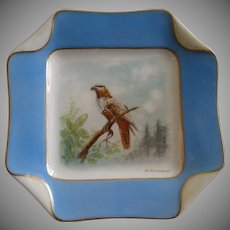 2 of 5 Haviland & Co. Limoges Hand Painted Bird Plates, Circa 1880's