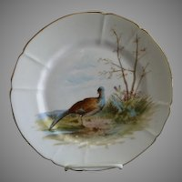 """G. Demartine & Co. Hand Painted """"Bird"""" Game Plate - 1 of 4"""