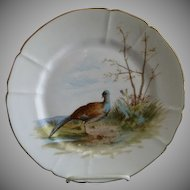 "G. Demartine & Co. Hand Painted ""Bird"" Game Plate - 1 of 4"