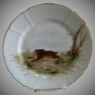 """G. Demartine & Co. Hand Painted """"Rabbit"""" Game Plate - 4 of 4"""