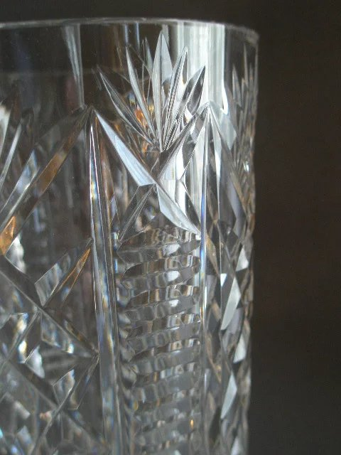 Waterford Crystal Quot Clare Quot Pattern Vase Brys Antiques Ruby Lane