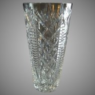 "Waterford Crystal ""Clare"" Pattern Vase"