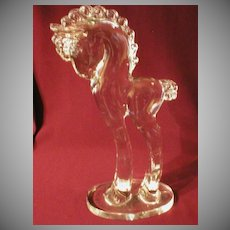 """Crystal Sculpture """"Tall Pony"""" by Paden City"""