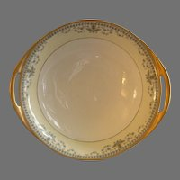 "Haviland & Co. Limoges Arts & Crafts ""English Oatmeal"" Pattern - Round Serving Bowl"