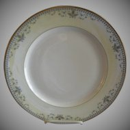 "Haviland & Co. Limoges Arts & Crafts ""English Oatmeal"" Pattern - Set of 6 Dinner Plates"