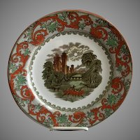 "Royal Doulton Transfer Polychrome ""English Castles"" Series Ware Plate - Pattern D2950"