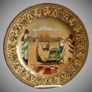 "Royal Doulton Transfer Polychrome ""Canal"" Series Ware Plate - Pattern D3039"