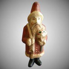 Vintage Paper Mache Figural Santa Claus