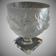 """Vintage Lalique France """"Elizabeth' Pattern Pedestal Vase/Bowl - Marc Lalique Design"""
