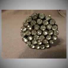 Victorian Hat Pin Studded w/Prone-Set Clear Rhinestones