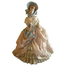 """Heirlooms of Tomorrow Ceramic Dresden-Type Lace Figurine - """"Penny"""" #1190"""