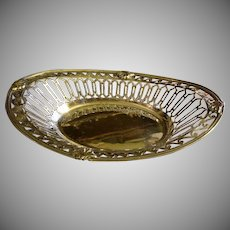 William Hutton & Sons Ltd - London Sterling Silver - Tea Biscuit Basket - Circa 1909