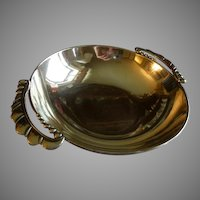 Julius Randahl Shop Hand Wrought Sterling Silver 'Arts & Crafts' Serving Bowl - Circa 1940