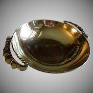 Julius Randahl Shop Hand Wrought Sterling Silver 'Arts & Crafts' Serving Bowl - Circa 1940