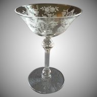 Set of 6 Tiffin 'Cherokee Rose' Pattern Champagne/Tall Sherbets