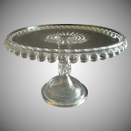 "EAPG -  ""Atlas"" or ""Cannonball"" Pattern Cake Stand"