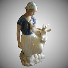 "Bing & Grondahl Porcelain of ""Girl With Her Goat"" Figurine #2180"