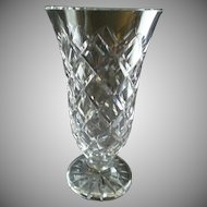 "Waterford Crystal ""Kinsale"" Pattern Vase"