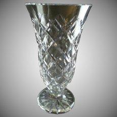 "Waterford Crystal ""Kinsale"" Pattern Vase"