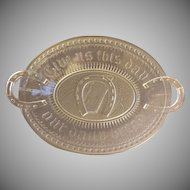 EAPG - Adams & Co. - Oval Bread Tray -  Horseshoe Pattern AKA Prayer Rug or Good Luck Pattern