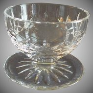 Set of 2 Waterford Crystal 'Lismore' Pattern Footed Fruit/Dessert Bowls