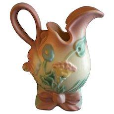 A E Hull Pottery Company 'Bowknot' Pattern Ewer