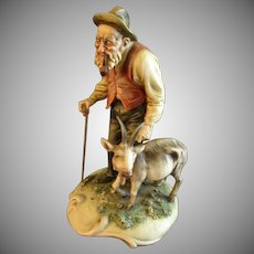 "Antonio Borsato ""Old Man With A Nanny Goat"" Figurine"