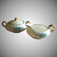 Stouffer Studio Hand Painted FMN Pattern Sugar & Creamer Set