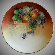 Stouffer Studio Hand Painted Blackberry Motif Cabinet Plate