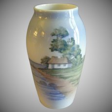 "Royal Copenhagen ""Country Cottage Scenic"" Pattern Vase"