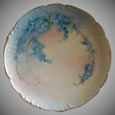 Haviland Limoges Hand Painted FMN Pattern Cabinet Plate - Artist Signed