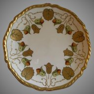 Art Deco Home Studio Hand Painted Cabinet Plate w/Bellflowers & Foliage Motif