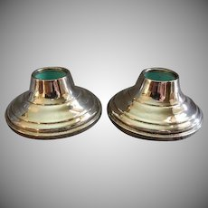 Vintage Pair Michael C Fina Weighted Sterling Silver Candleholders